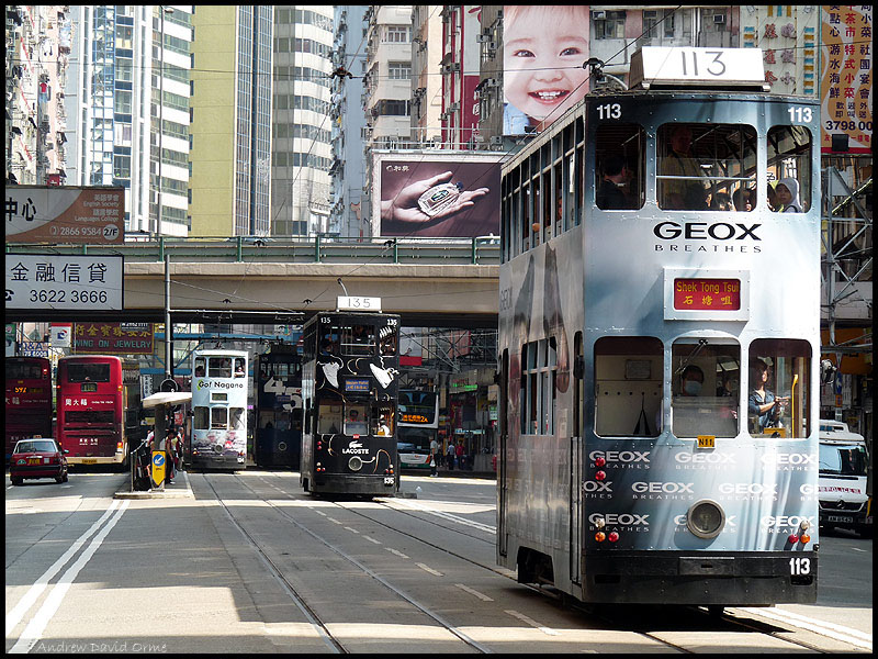 Geox Breathes tram on Hennessey Road